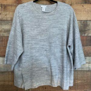 J. Jill Purejill gray pullover top, size small